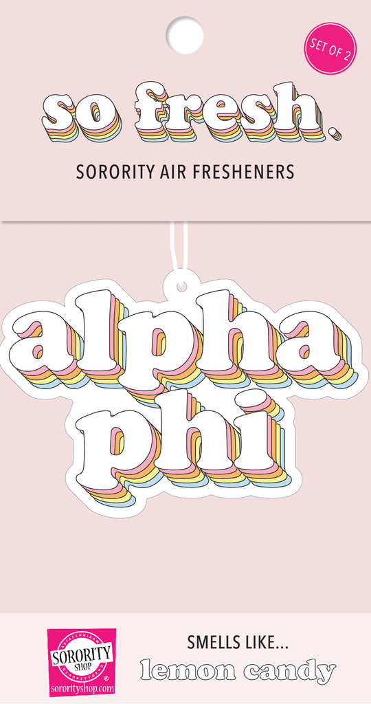 Alpha Phi Retro Air Freshener