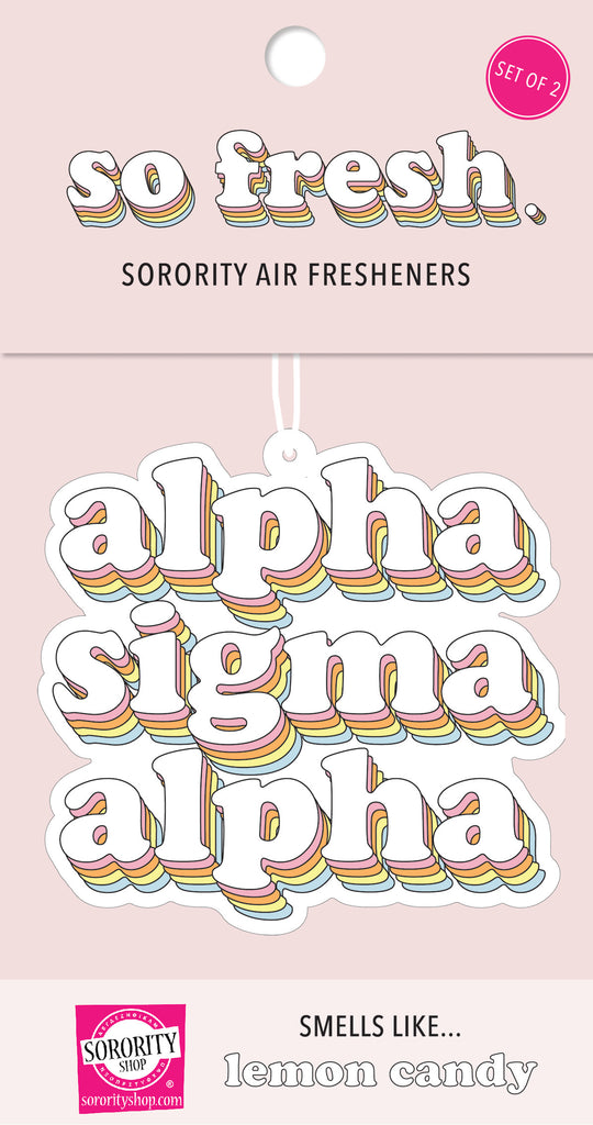 Alpha Sigma Alpha Retro Air Freshener