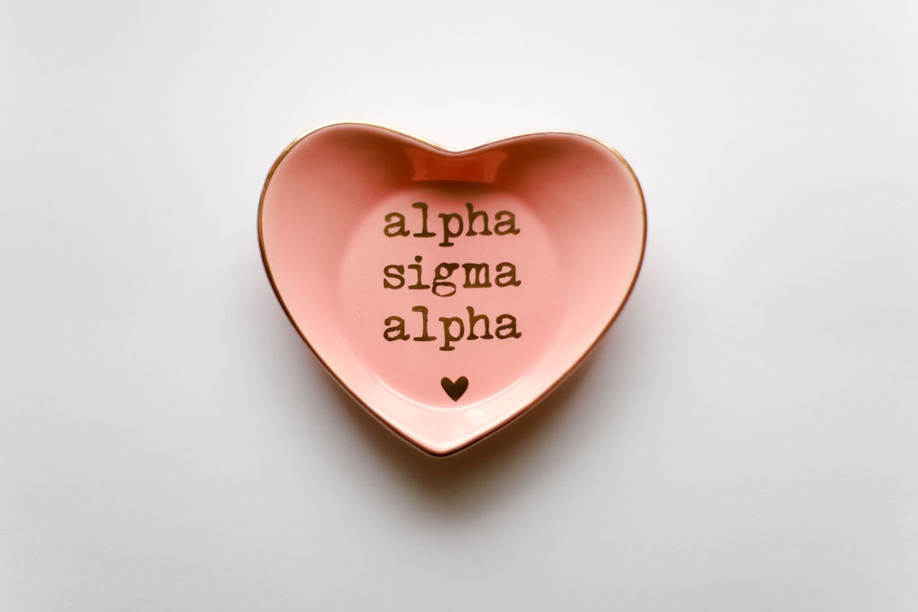 Alpha Sigma Alpha Ceramic Ring Dish