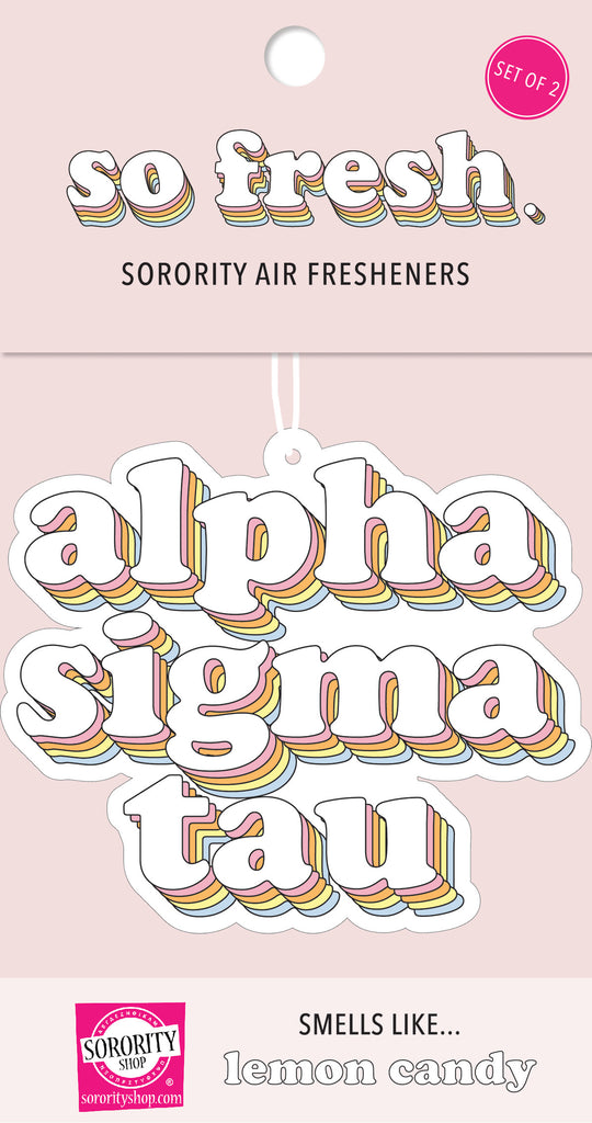 Alpha Sigma Tau Retro Air Freshener