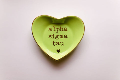 Alpha Sigma Tau Ceramic Ring Dish