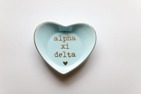 Alpha Xi Delta Ceramic Ring Dish