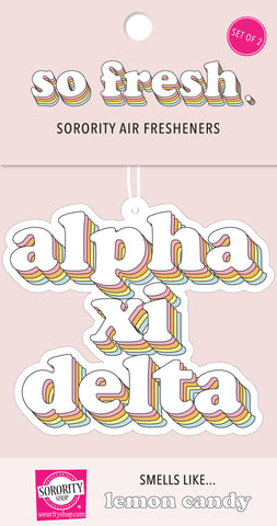 Alpha Xi Delta Retro Air Freshener