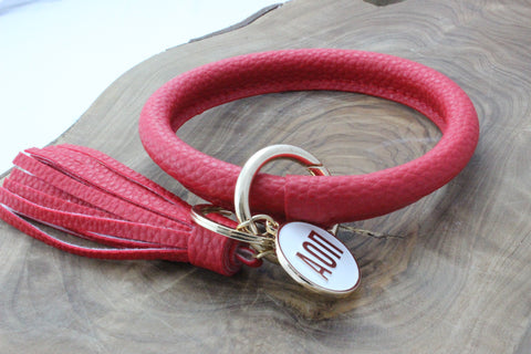 Alpha Omicron Pi Bangle Sorority Keychain