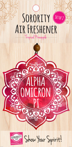 Alpha Omicron Pi <br> Mandala Air Freshener <br> 2/Package