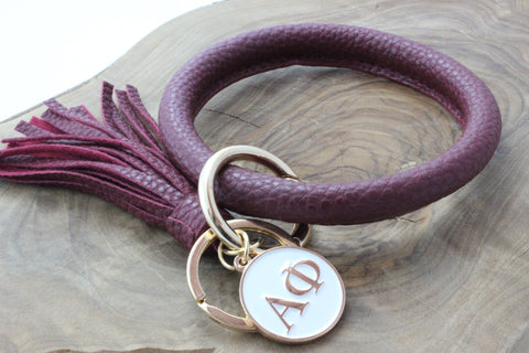 Alpha Phi Bangle Sorority Keychain