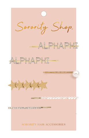Alpha Phi Sorority Hair Clips