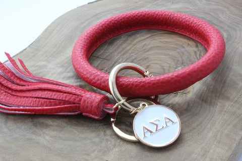 Alpha Sigma Alpha Bangle Sorority Keychain