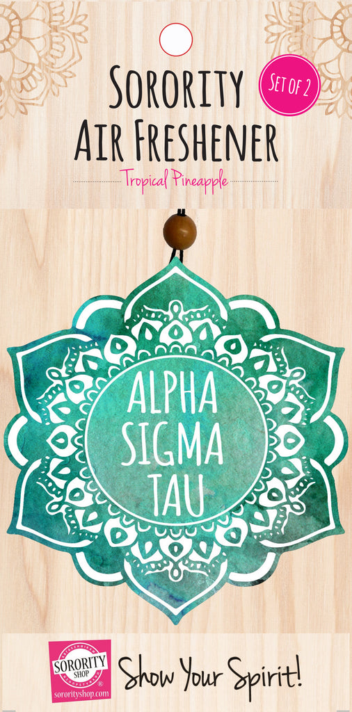 Alpha Sigma Tau <br> Mandala Air Freshener <br> 2/Package