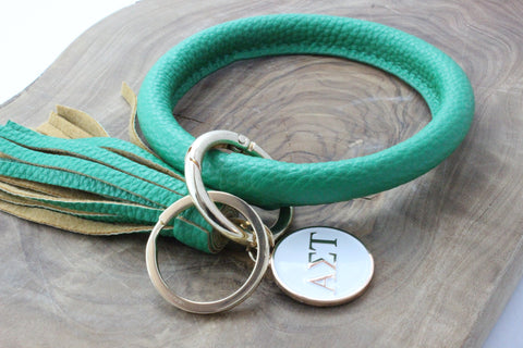 Alpha Sigma Tau Bangle Sorority Keychain