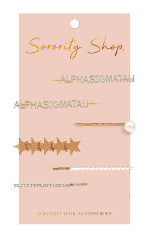 Alpha Sigma Tau Sorority Hair Clips