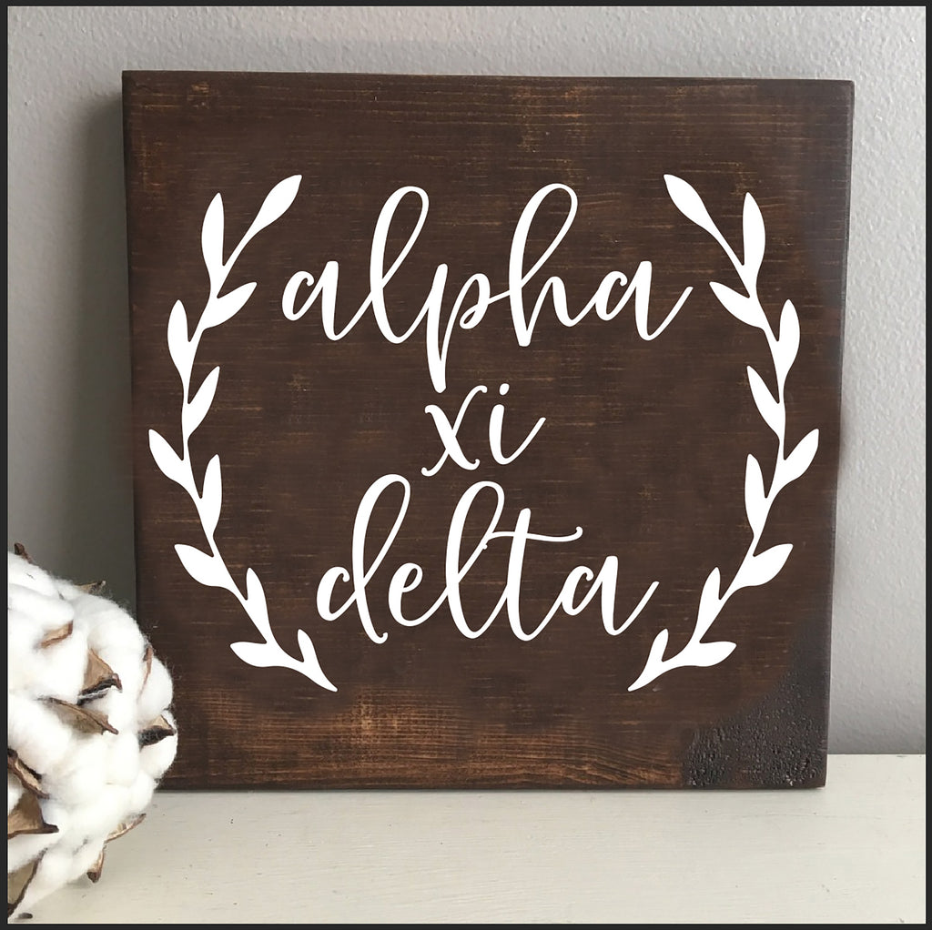Alpha Xi Delta Wooden Wall Art
