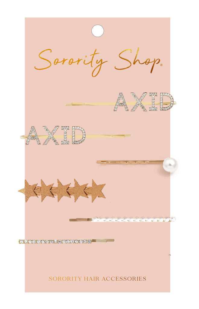 Alpha Xi Delta Sorority Hair Clips