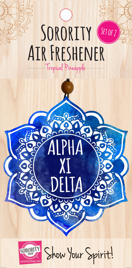 Alpha Xi Delta <br> Mandala Air Freshener <br> 2/Package