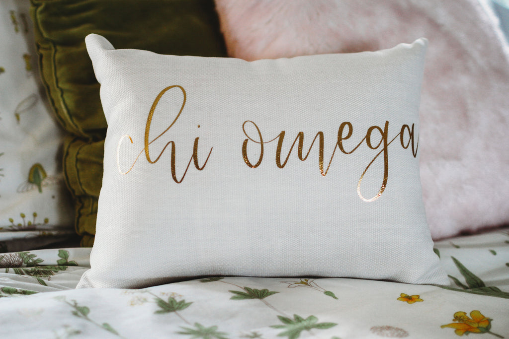 Chi Omega Throw Pillow