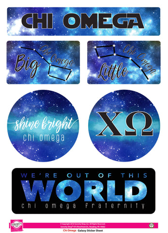 Chi Omega <br> Galaxy Stickers