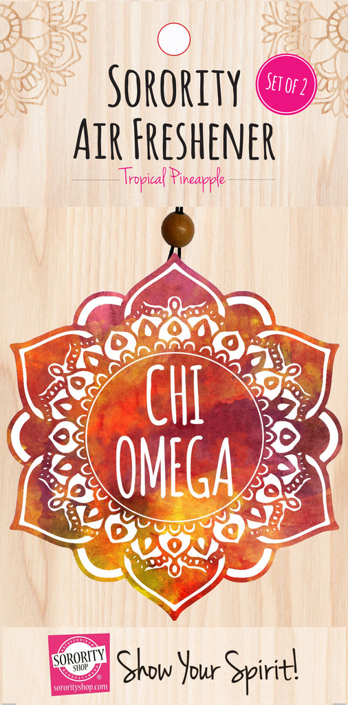 Chi Omega <br> Mandala Air Freshener <br> 2/Package