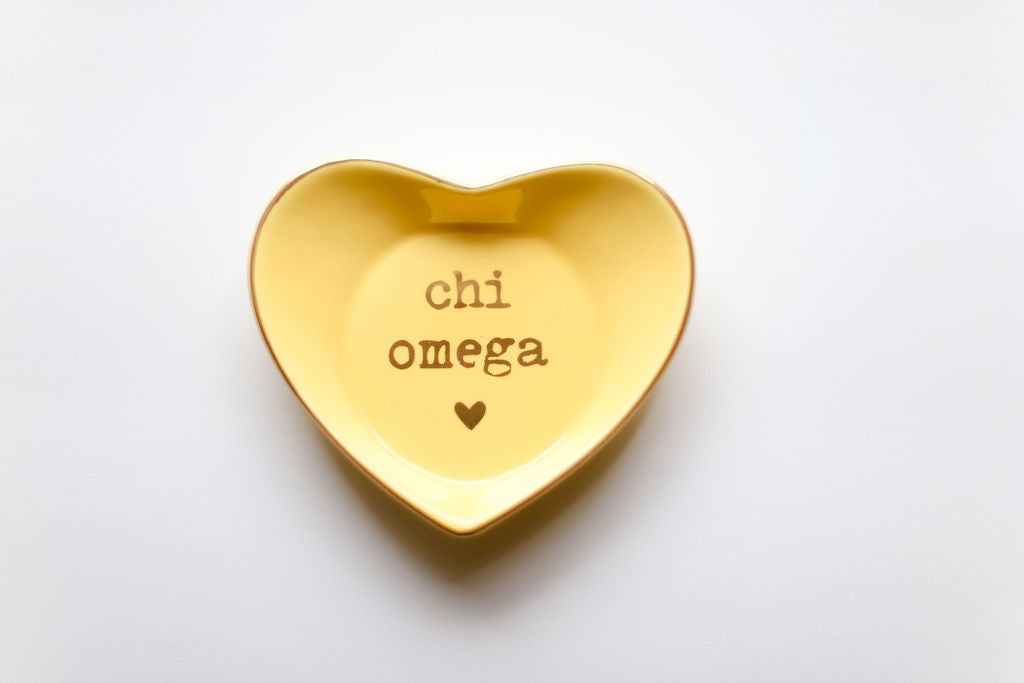 Chi Omega Ceramic Ring Dish