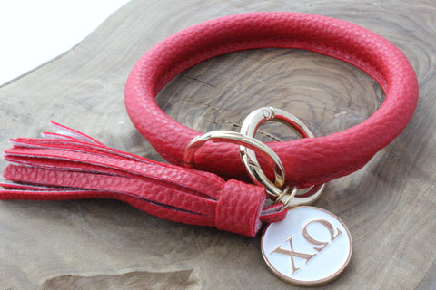Chi Omega Bangle Sorority Keychain
