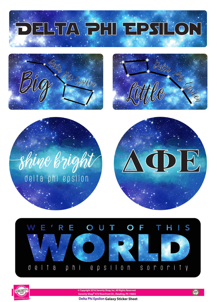 Delta Phi Epsilon Galaxy Stickers