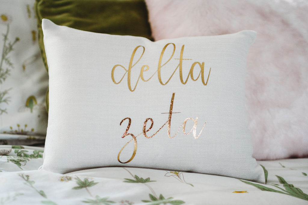 Delta Zeta Throw Pillow