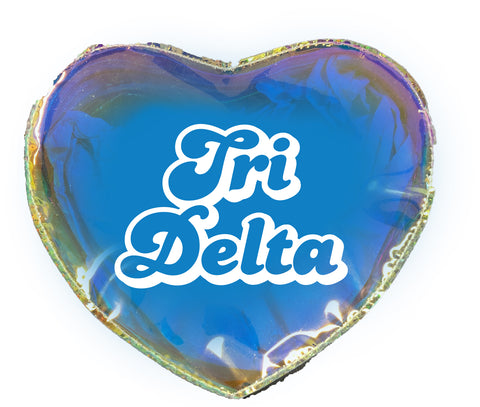 Delta Delta Delta Heart Shaped Makeup Bag