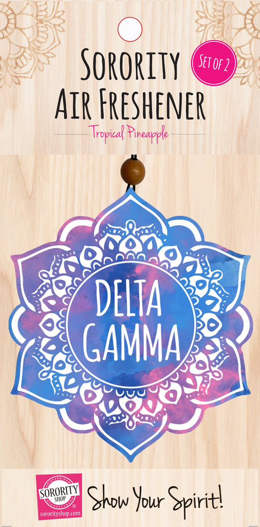 Delta Gamma <br> Mandala Air Freshener <br> 2/Package