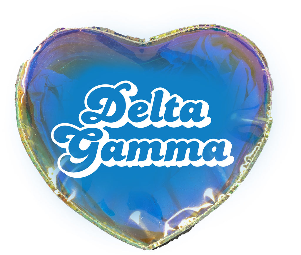 Delta Gamma Heart Shaped Makeup Bag