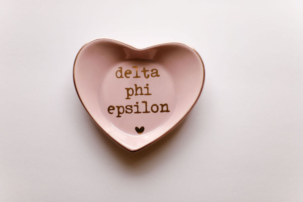 Delta Phi Epsilon Ceramic Ring Dish