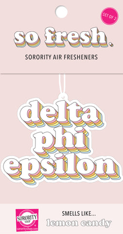 Delta Phi Epsilon Retro Air Freshener