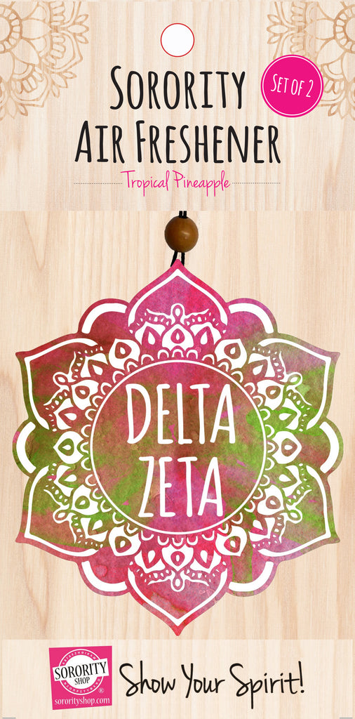 Delta Zeta <br> Mandala Air Freshener <br> 2/Package