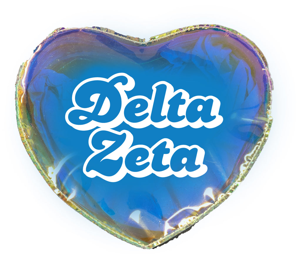 Delta Zeta Heart Shaped Makeup Bag