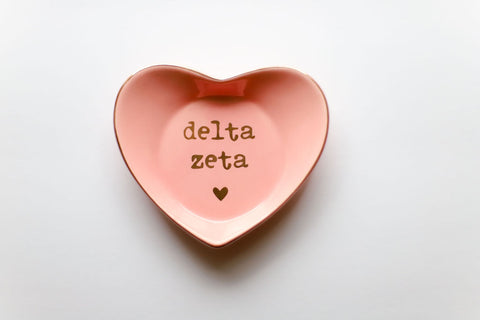 Delta Zeta Ceramic Ring Dish