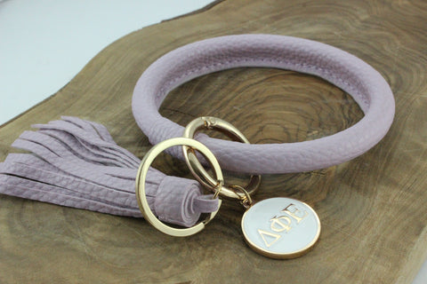 Delta Phi Epsilon Bangle Sorority Keychain