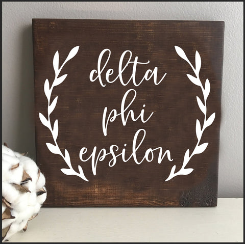Delta Phi Epsilon Wooden Wall Art
