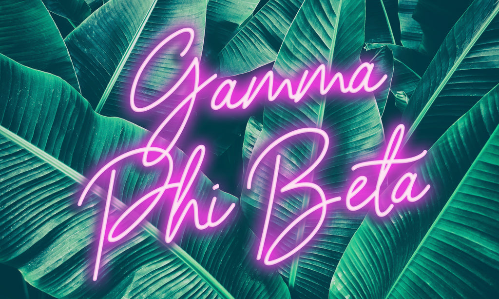 Gamma Phi Beta Neon Palm Flag