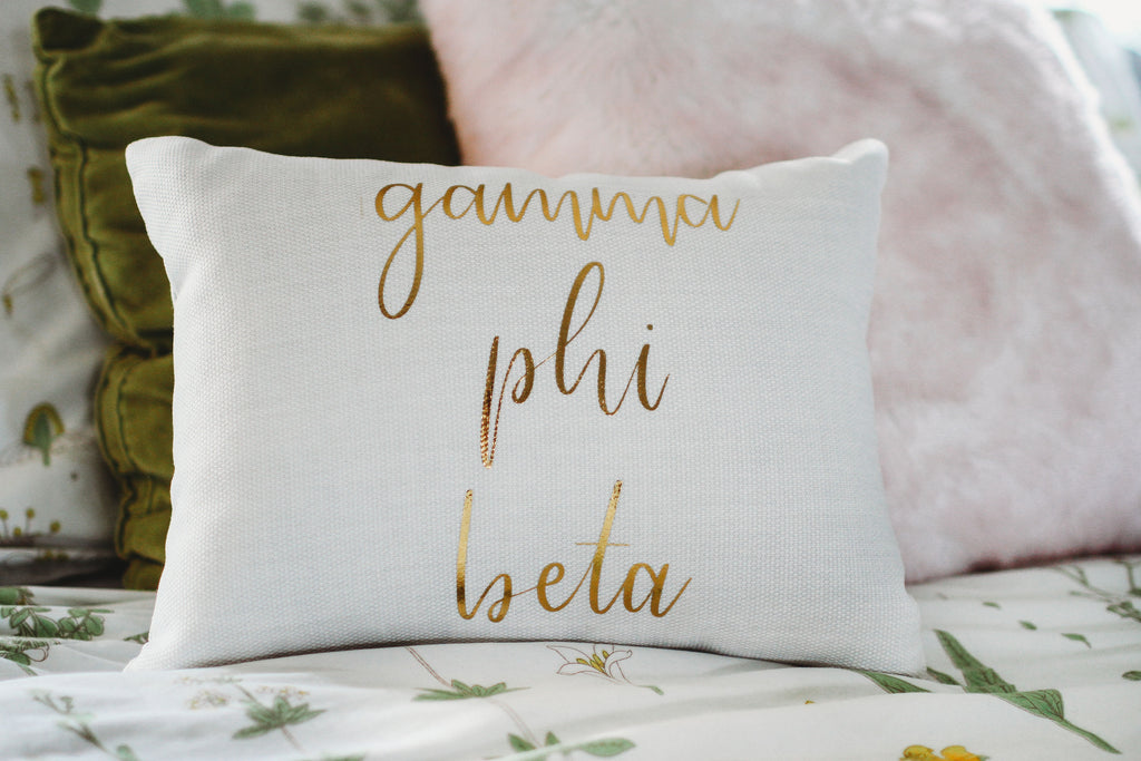 Gamma Phi Beta Throw Pillow