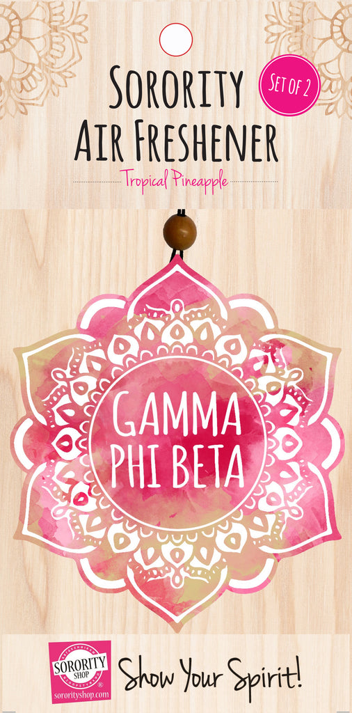 Gamma Phi Beta <br> Mandala Air Freshener <br> 2/Package