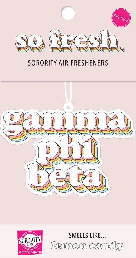 Gamma Phi Beta Retro Air Freshener