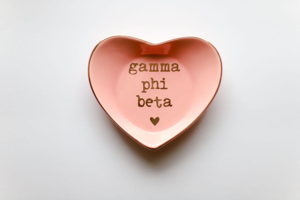 Gamma Phi Beta Ceramic Ring Dish