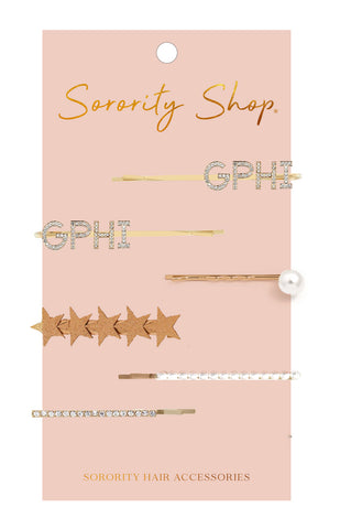 Gamma Phi Beta Sorority Hair Clips
