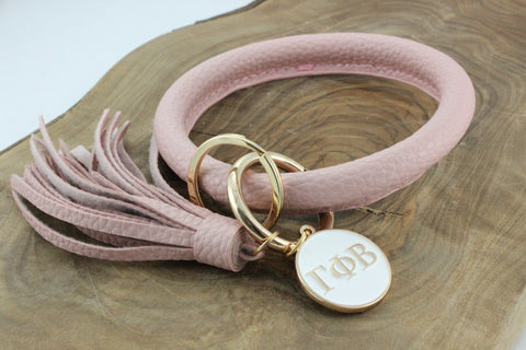 Gamma Phi Beta Bangle Sorority Keychain