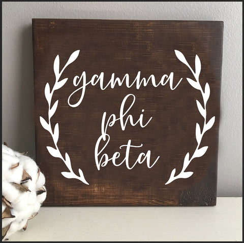 Gamma Phi Beta Wooden Wall Art