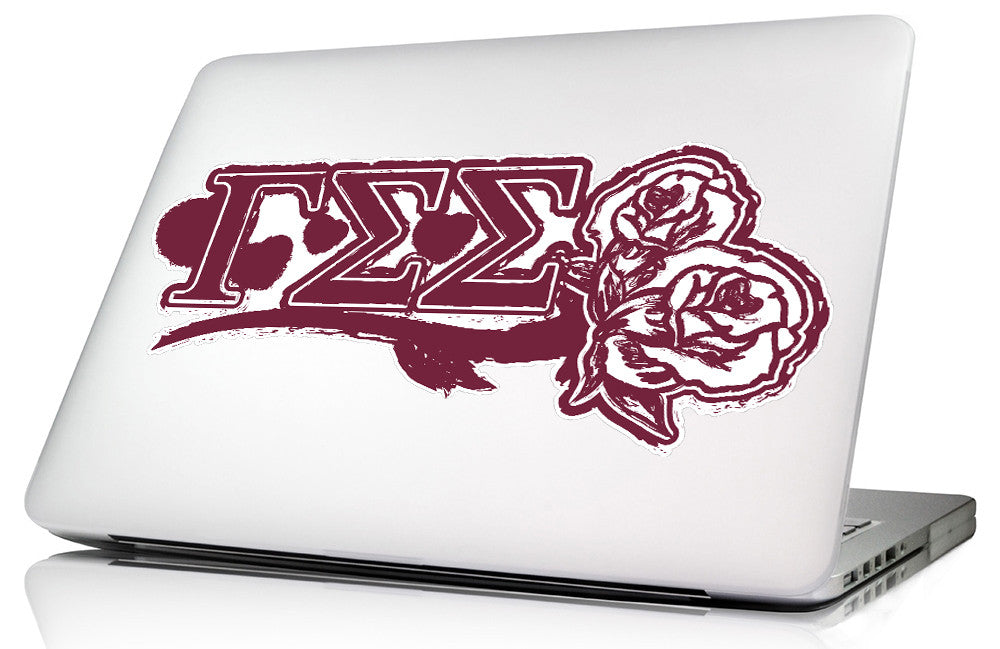 Gamma Sigma Sigma <br>11.75 x 5.25 Laptop Skin/Wall Decal
