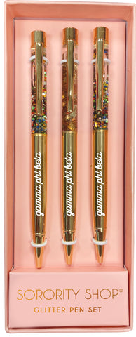 Gamma Phi Beta Glitter Pens (Set of 3)