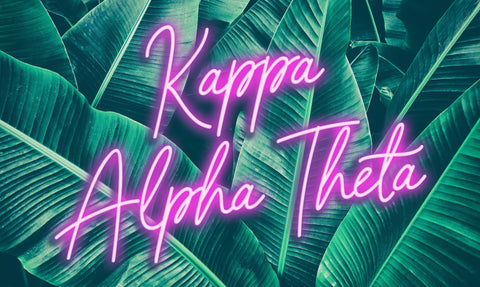 Kappa Alpha Theta Neon Palm Flag