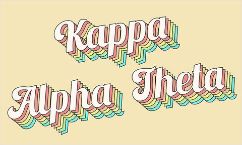 Kappa Alpha Theta Retro Flag