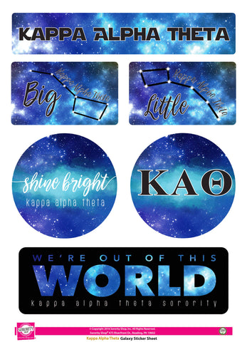 Kappa Alpha Theta Galaxy Stickers