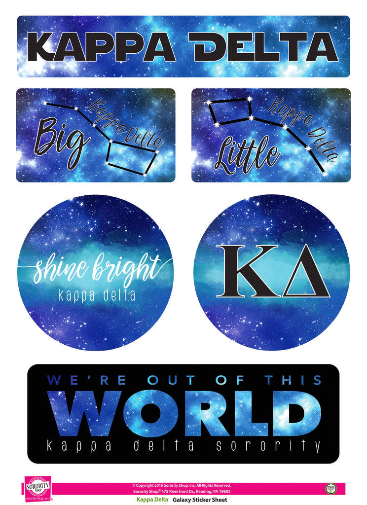 Kappa Delta Galaxy Stickers
