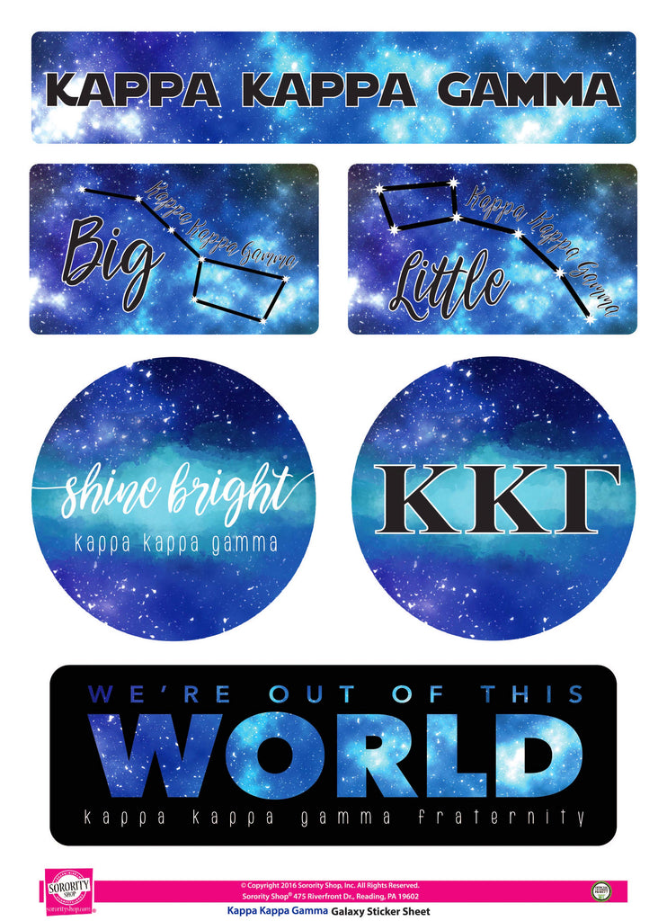 Kappa kappa Gamma Galaxy Stickers
